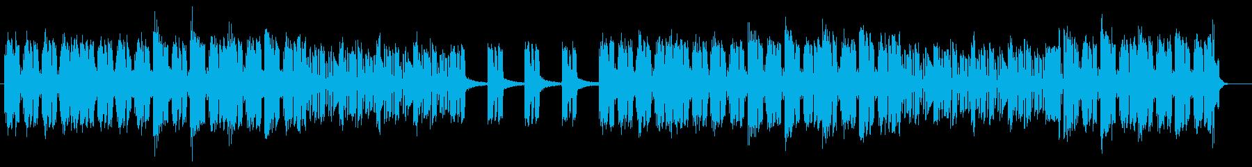 勢いのあるスラップベースが特徴のポップスの再生済みの波形