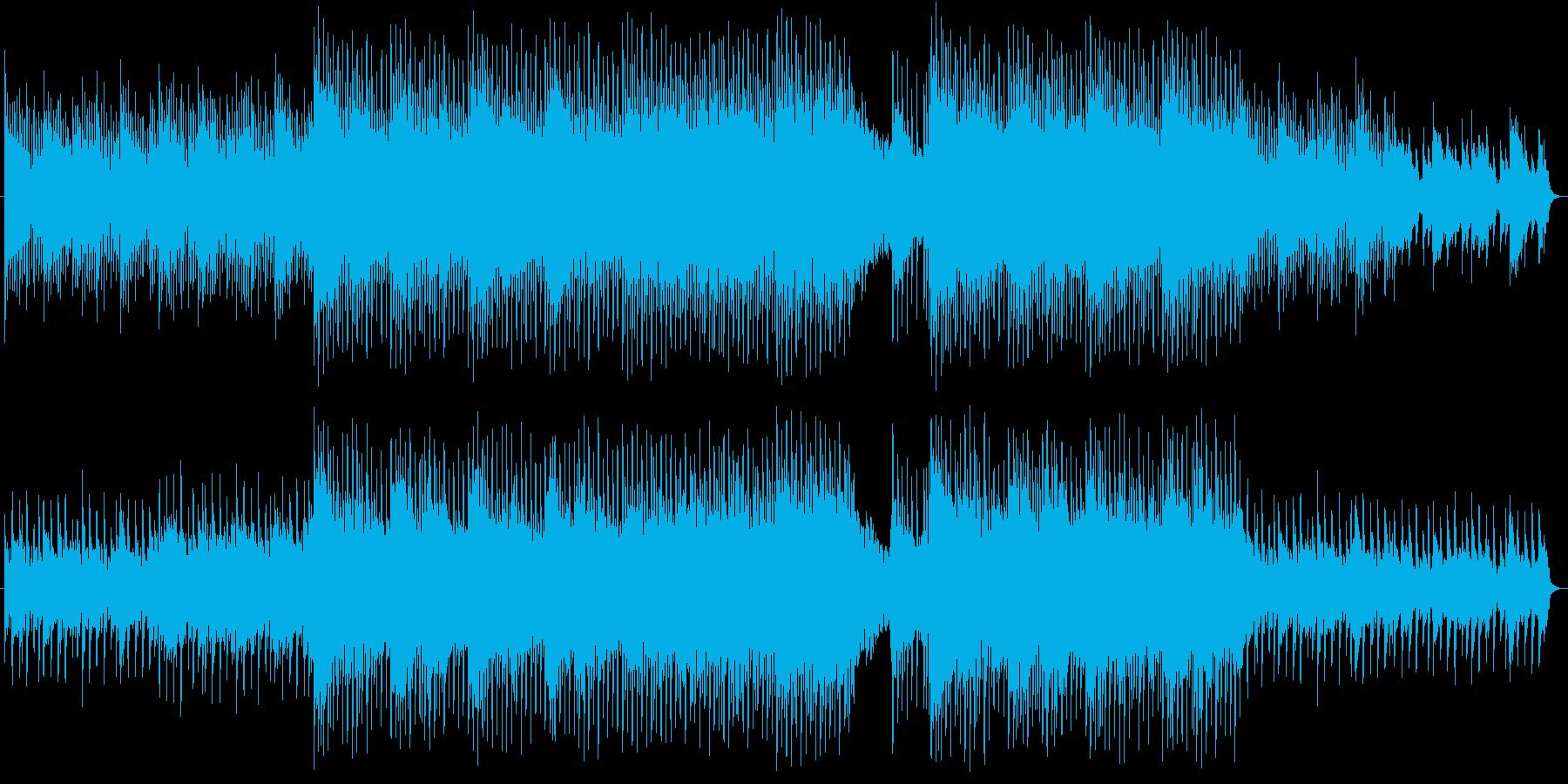 前向きで明るいポップスの再生済みの波形