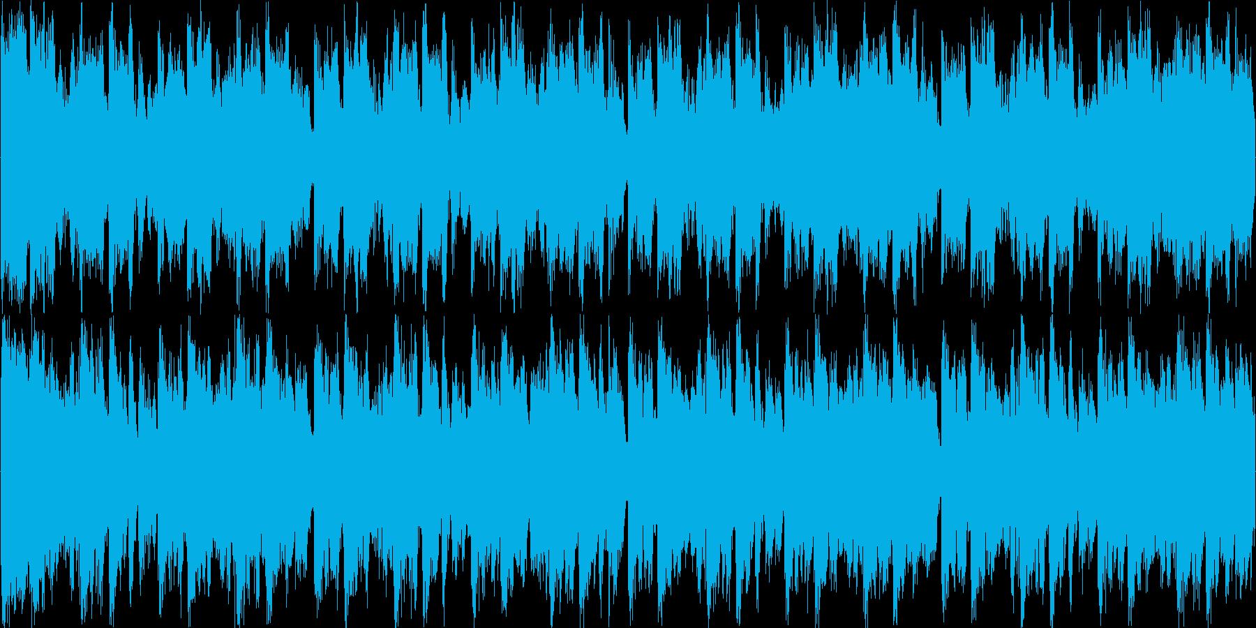 高揚感のあるなオーケストラゲームBGMの再生済みの波形