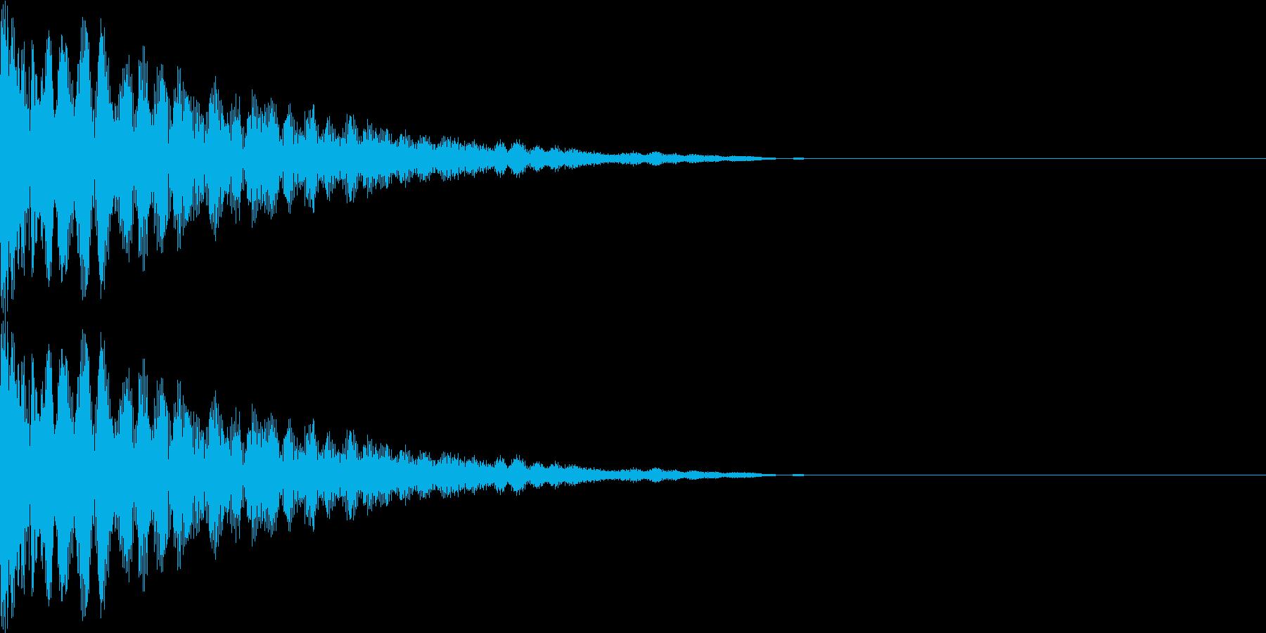 キン(金属のぶつかる音)の再生済みの波形