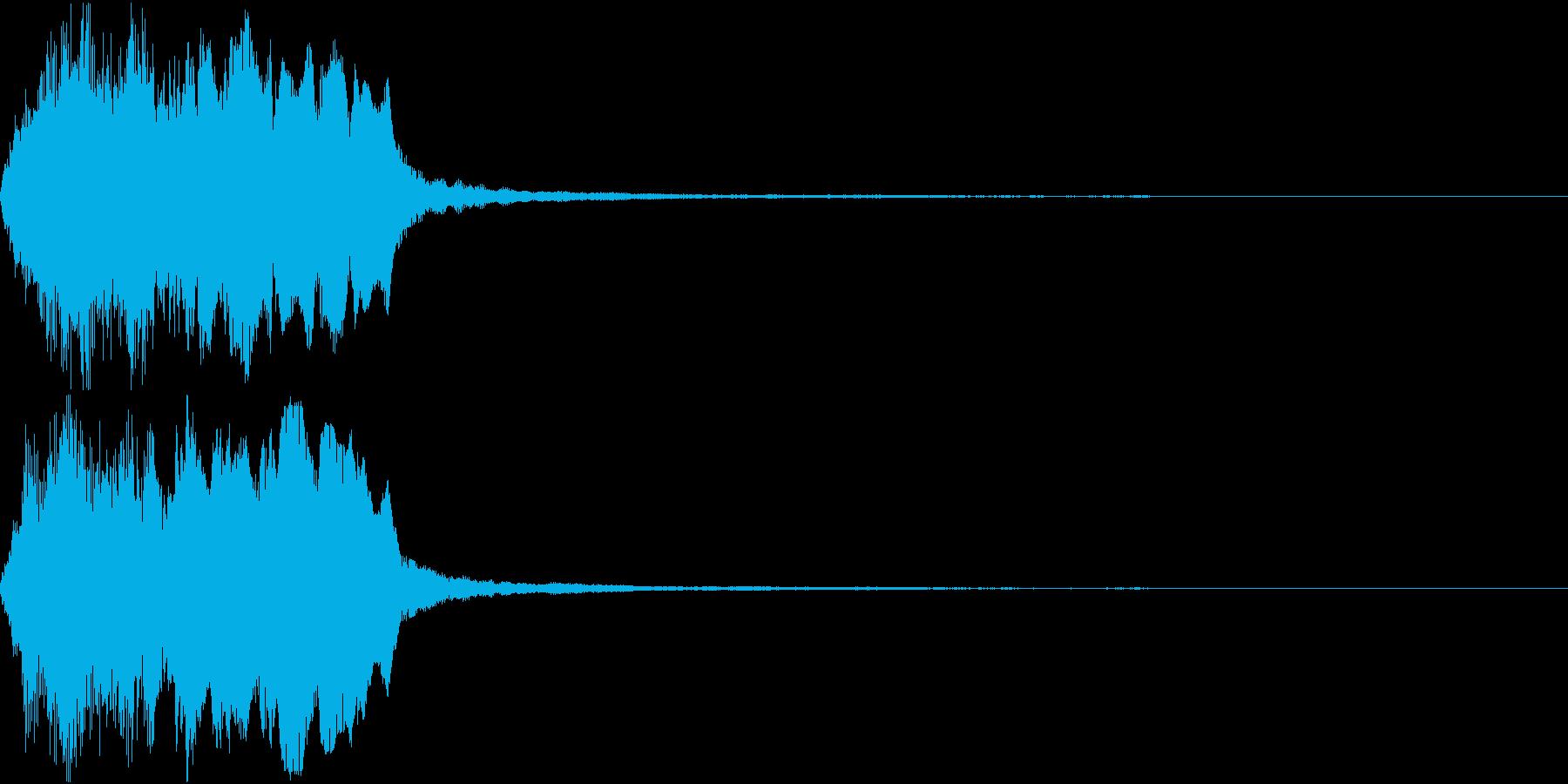ラッパ ファンファーレ 定番 1の再生済みの波形