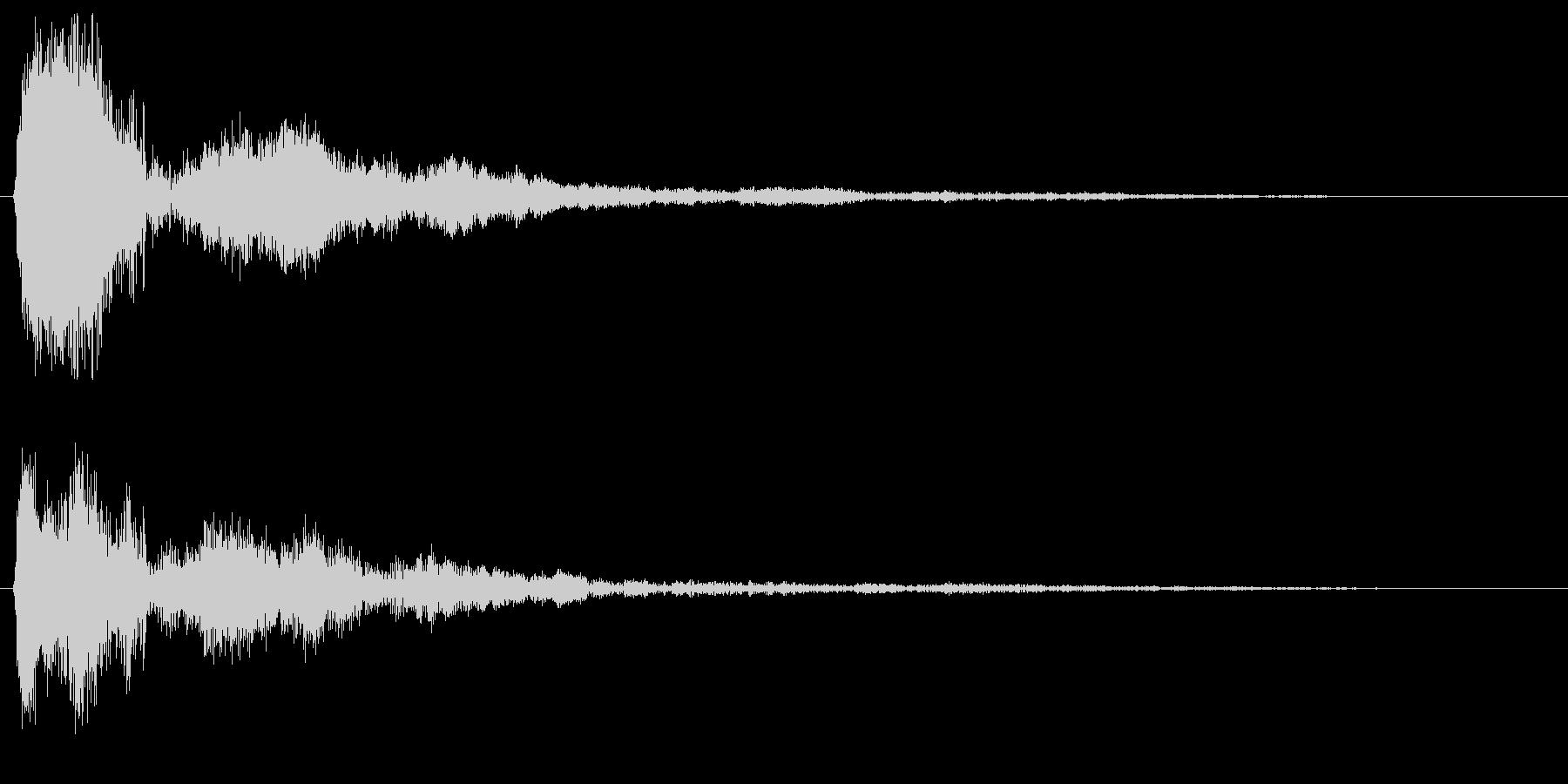 カンッ (甲高い警告音)の未再生の波形