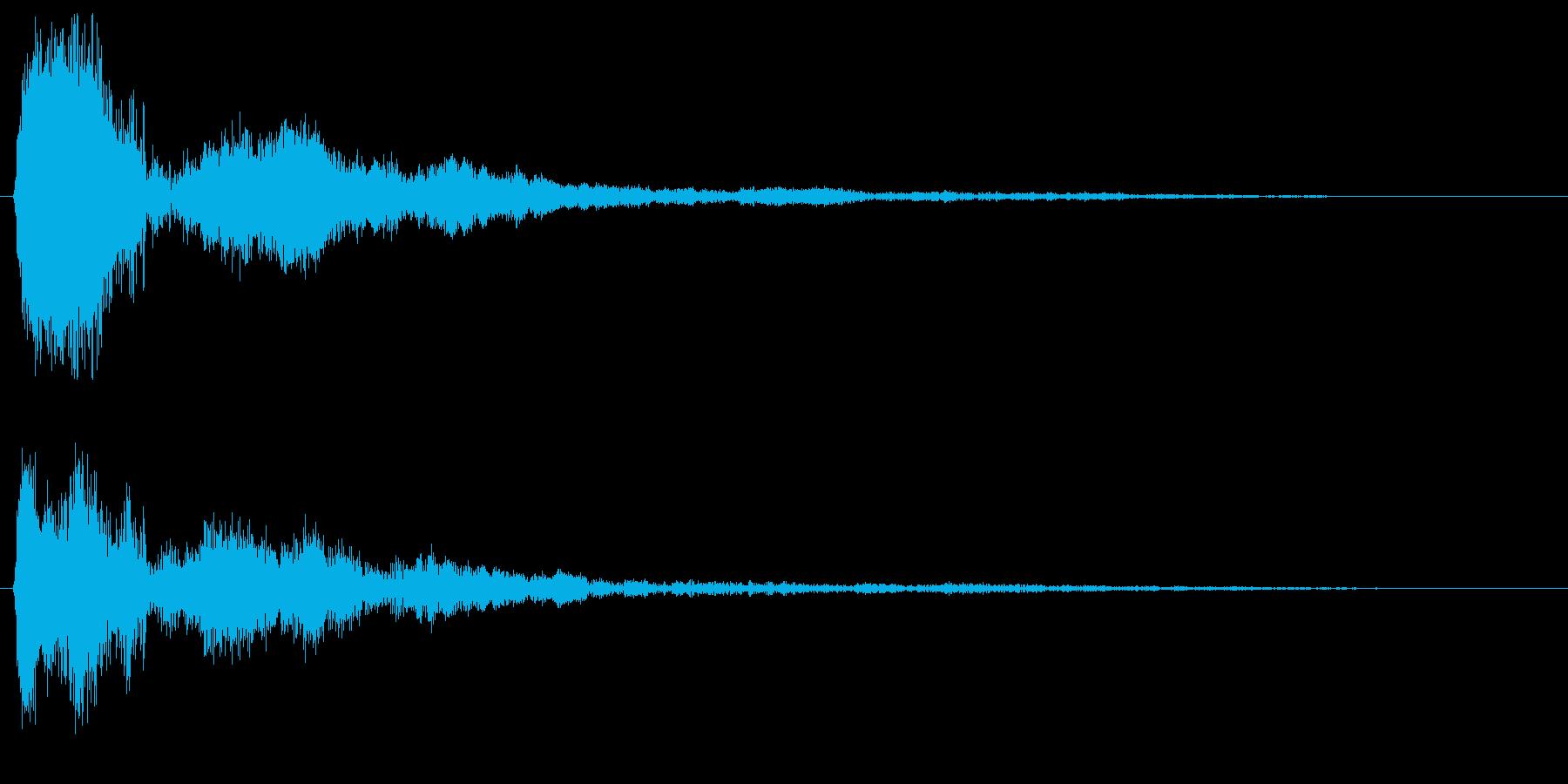 カンッ (甲高い警告音)の再生済みの波形