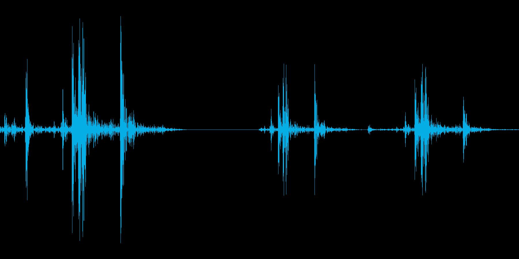 汎用的なシステム音(カシャカシャの再生済みの波形