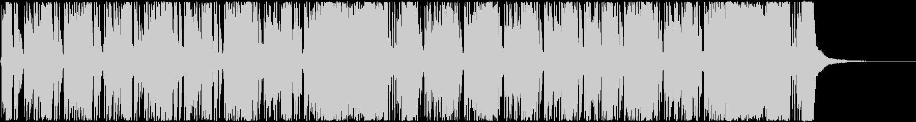 ロックなカッティングにファンクなベースの未再生の波形