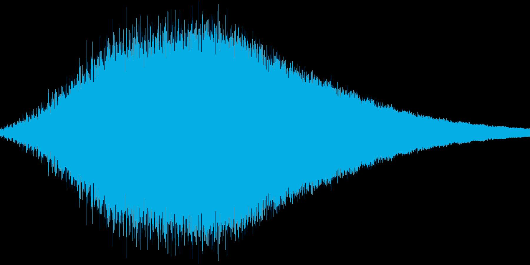 RPG:光魔法音「シュワーン」の再生済みの波形