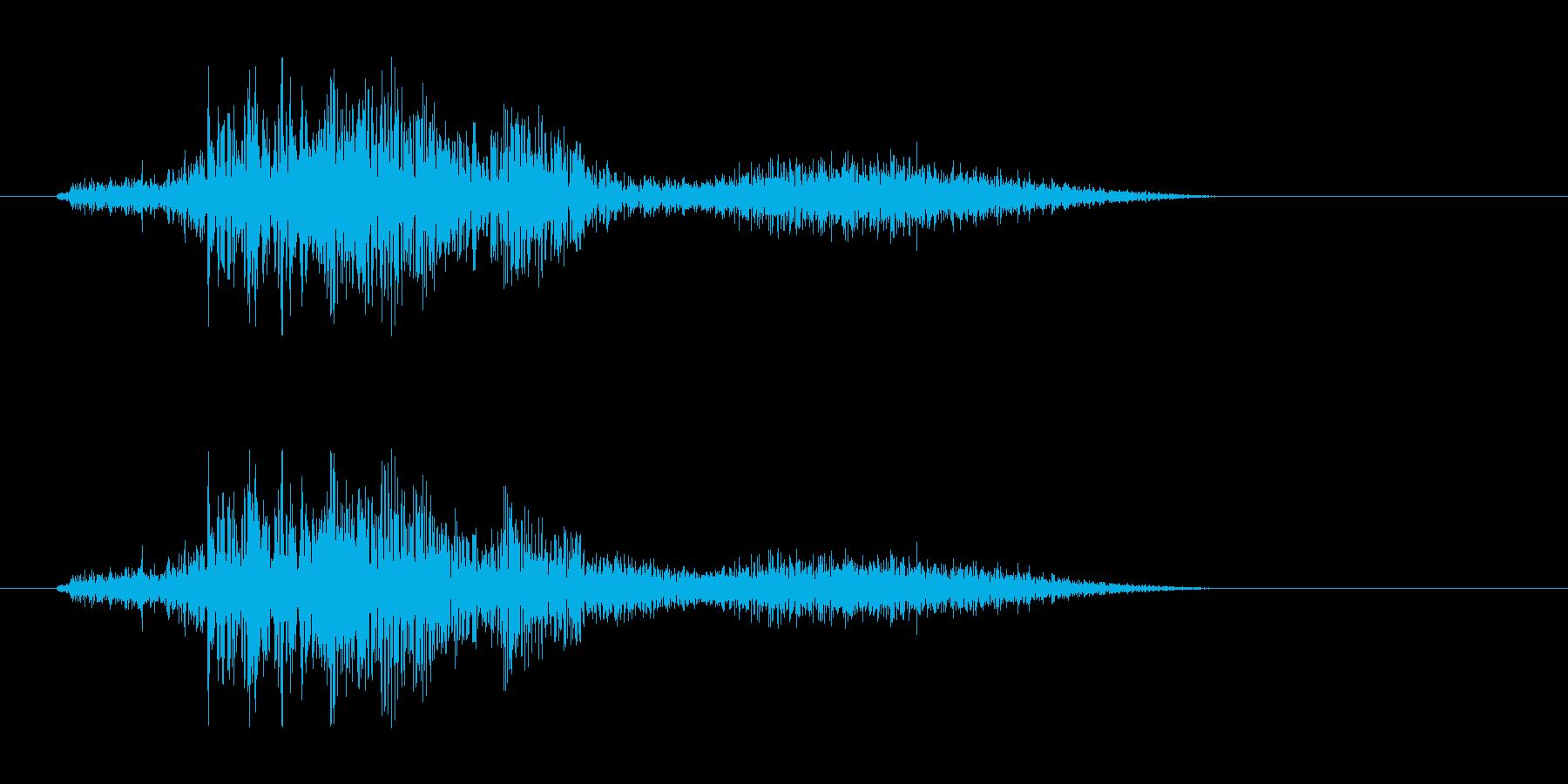 侍魂溢れる和風掛け声「断(Tatsu)」の再生済みの波形