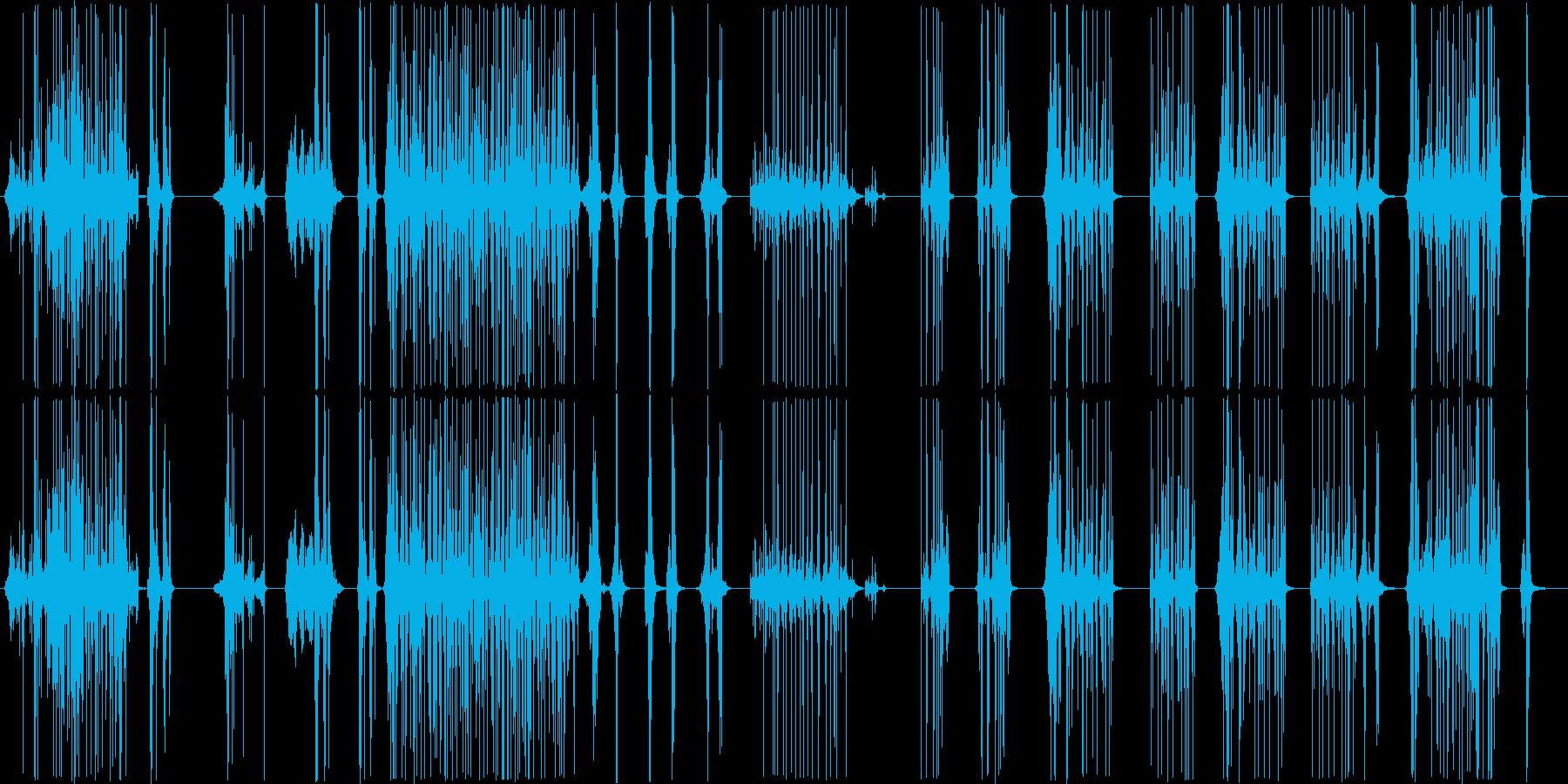 脳内で高速にファイルをめくっていく音の再生済みの波形