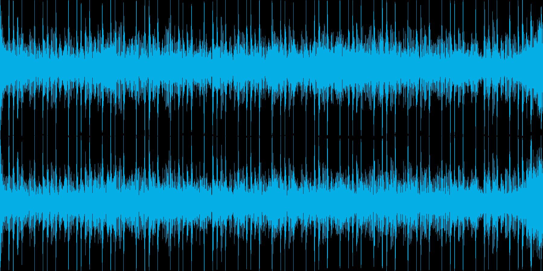 ベースリフBGM(ループ)ホラー系の再生済みの波形