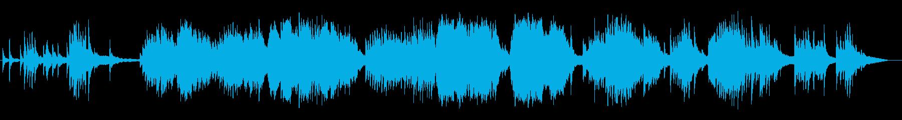 美しく透明感のピアノバイオリンサウンドの再生済みの波形