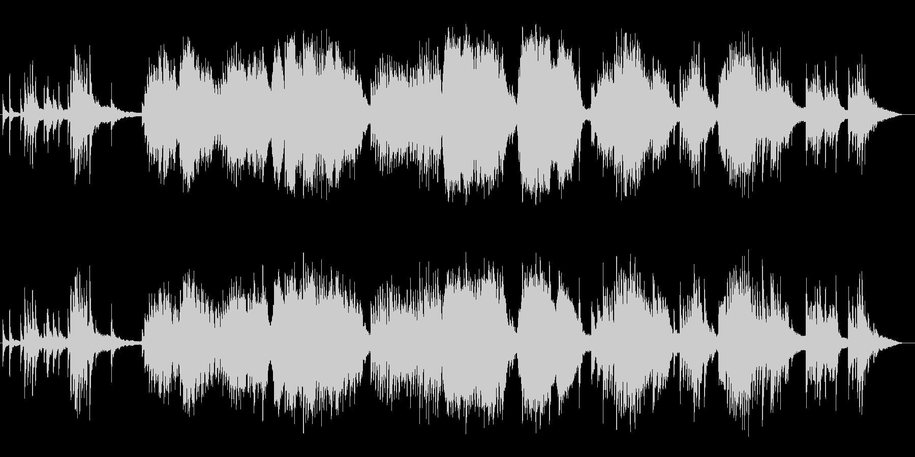 美しく透明感のピアノバイオリンサウンドの未再生の波形