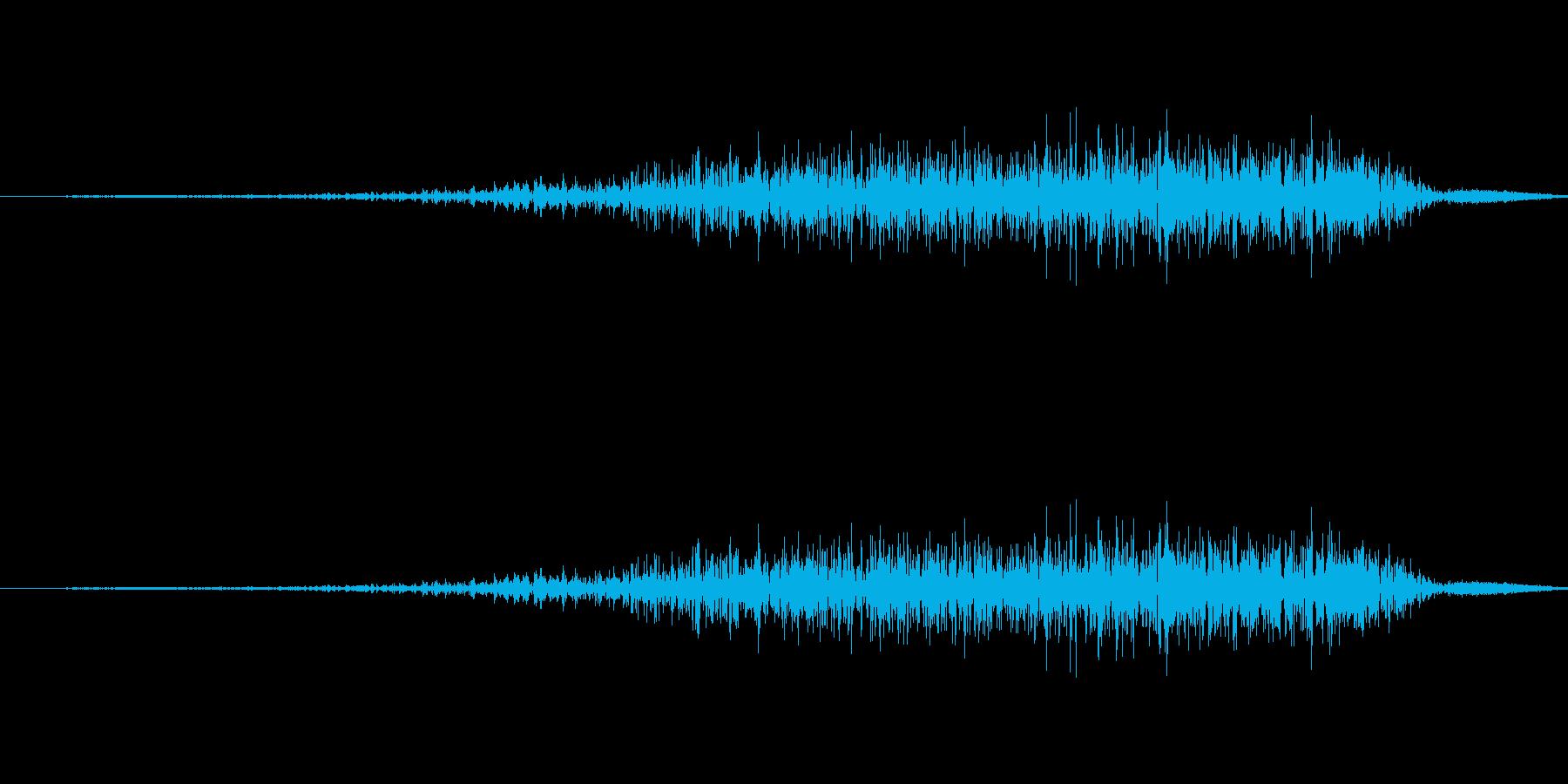 スッ(スワイプ、アイテム、収拾、選択)の再生済みの波形