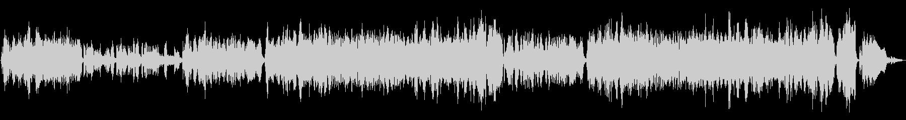 ピアノとストリングスの伸びやかなBGMの未再生の波形