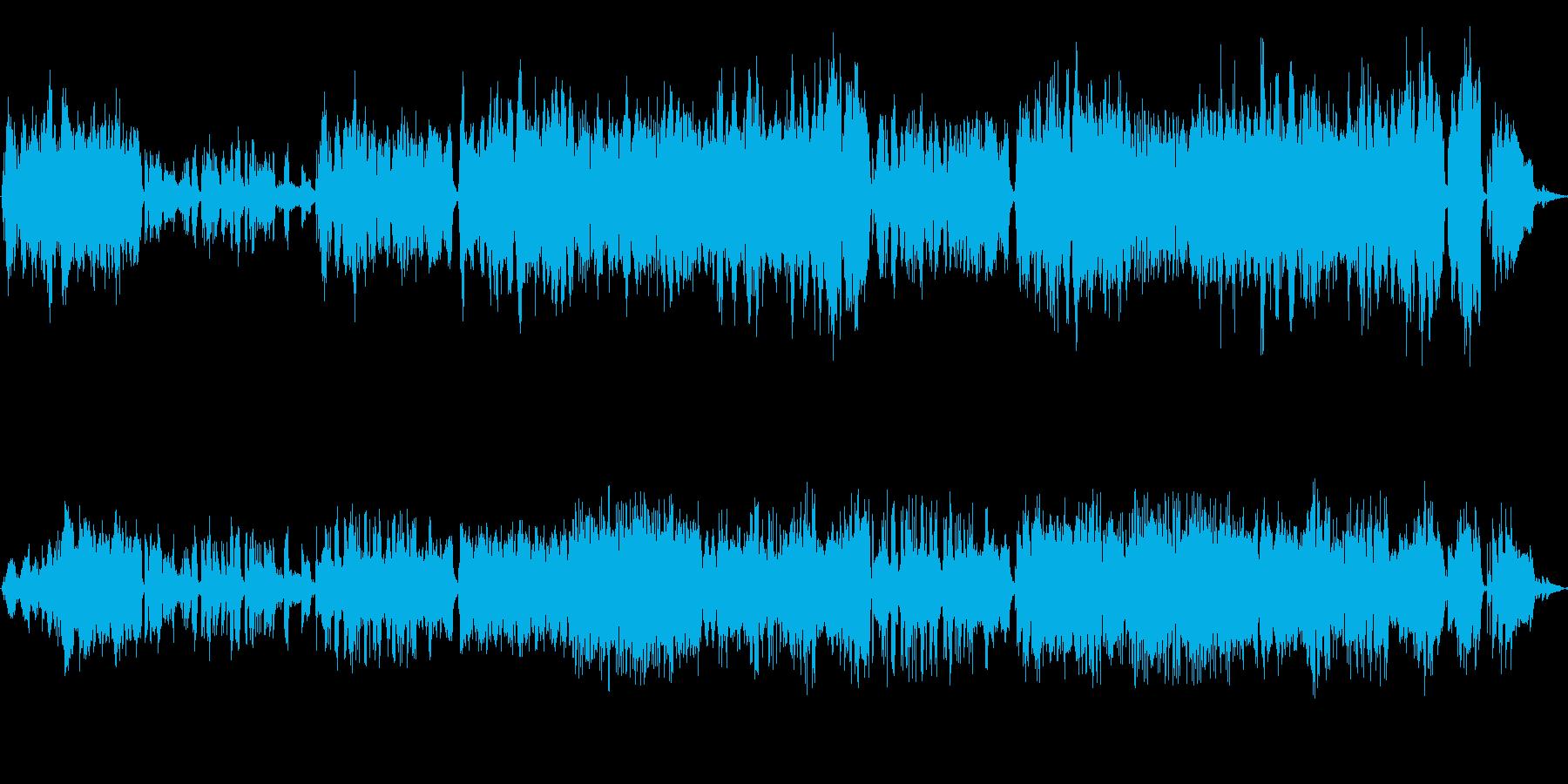 ピアノとストリングスの伸びやかなBGMの再生済みの波形