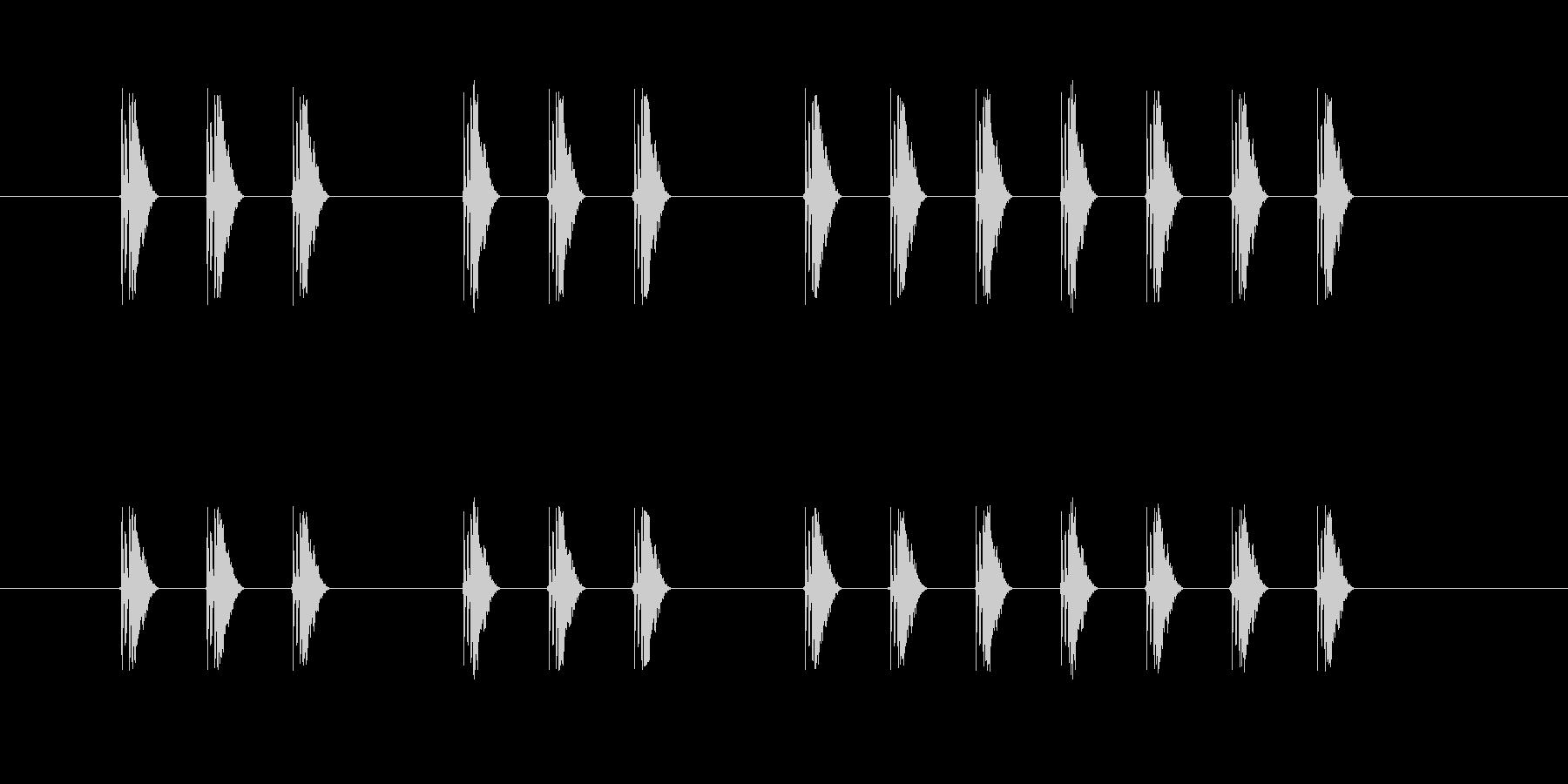 三三七拍子 337拍子の未再生の波形