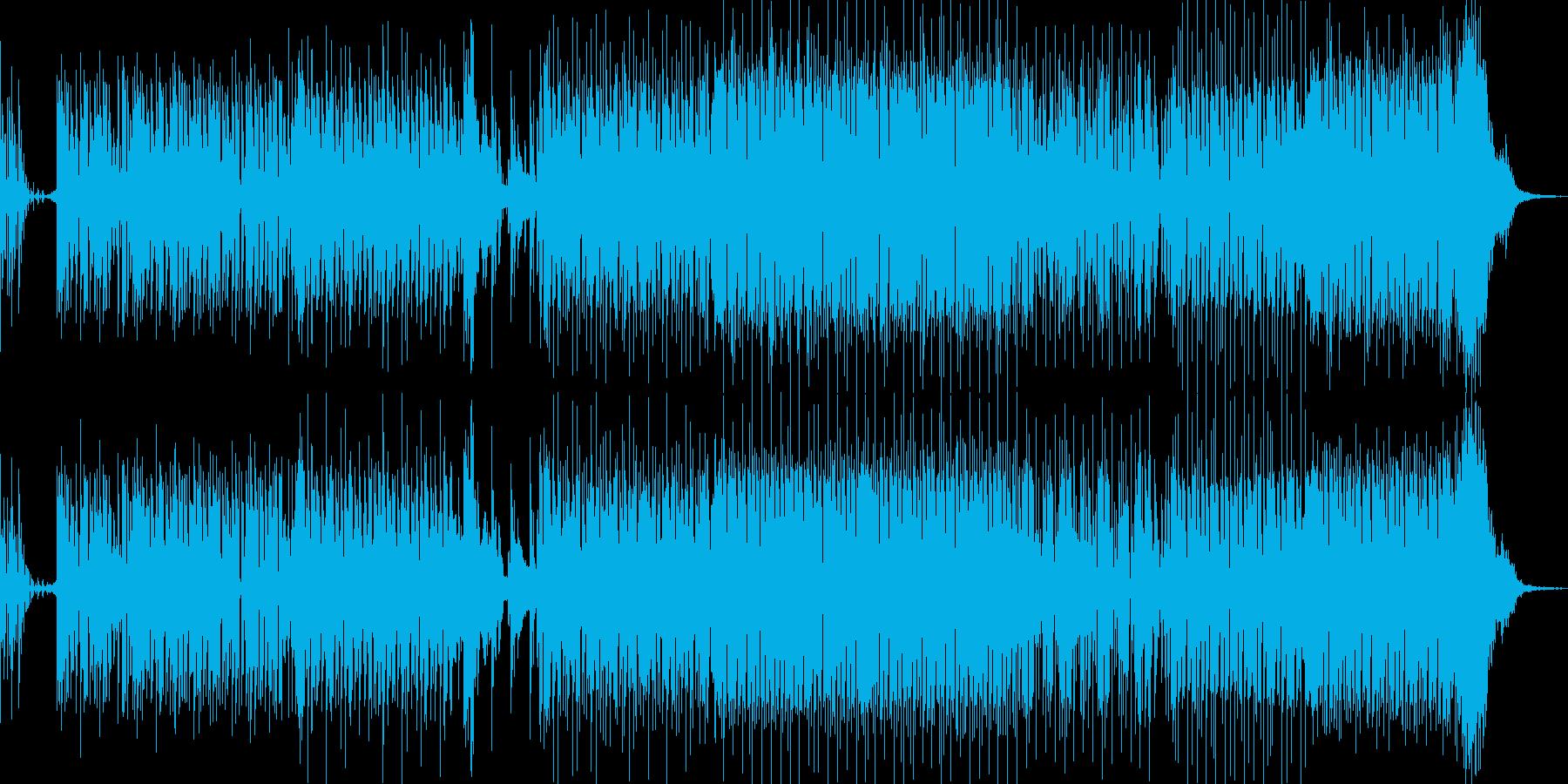 アニメ、クイズ系の軽いBGMの再生済みの波形