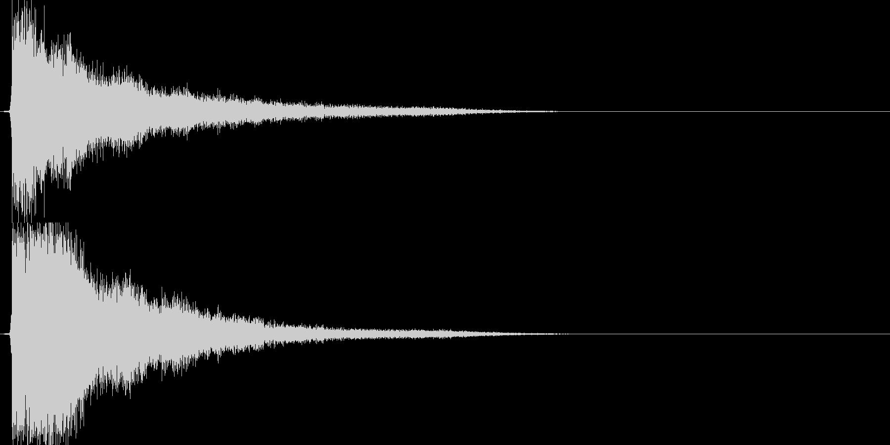 テューン(アイテム使用、エフェクト無し)の未再生の波形