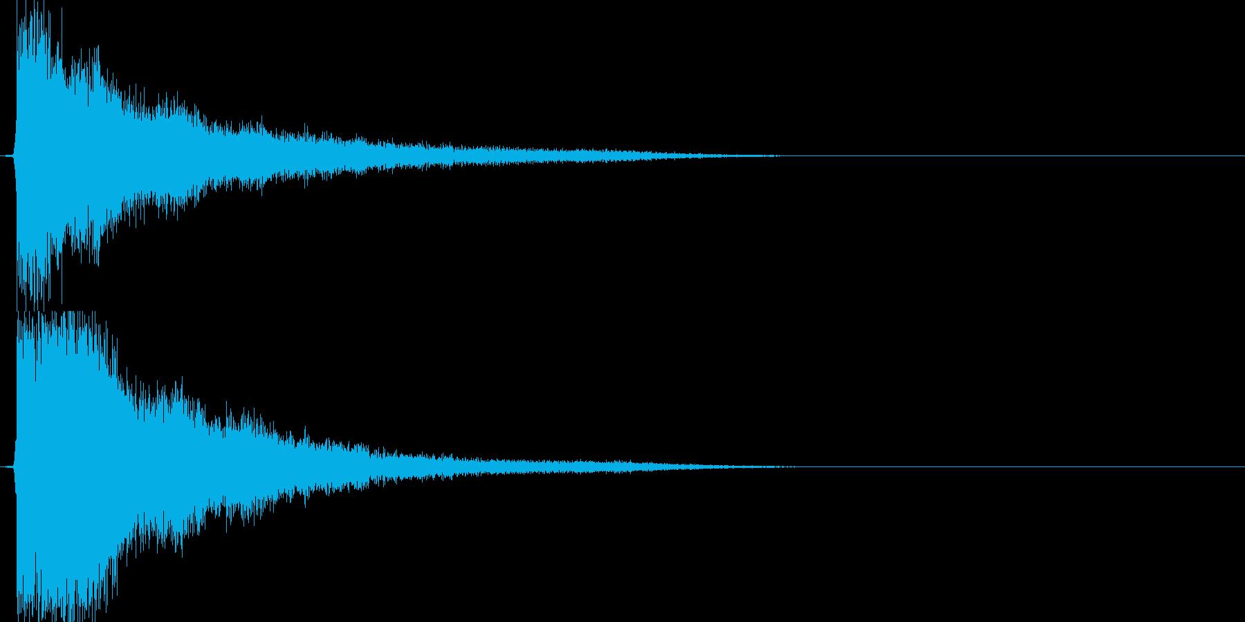 テューン(アイテム使用、エフェクト無し)の再生済みの波形