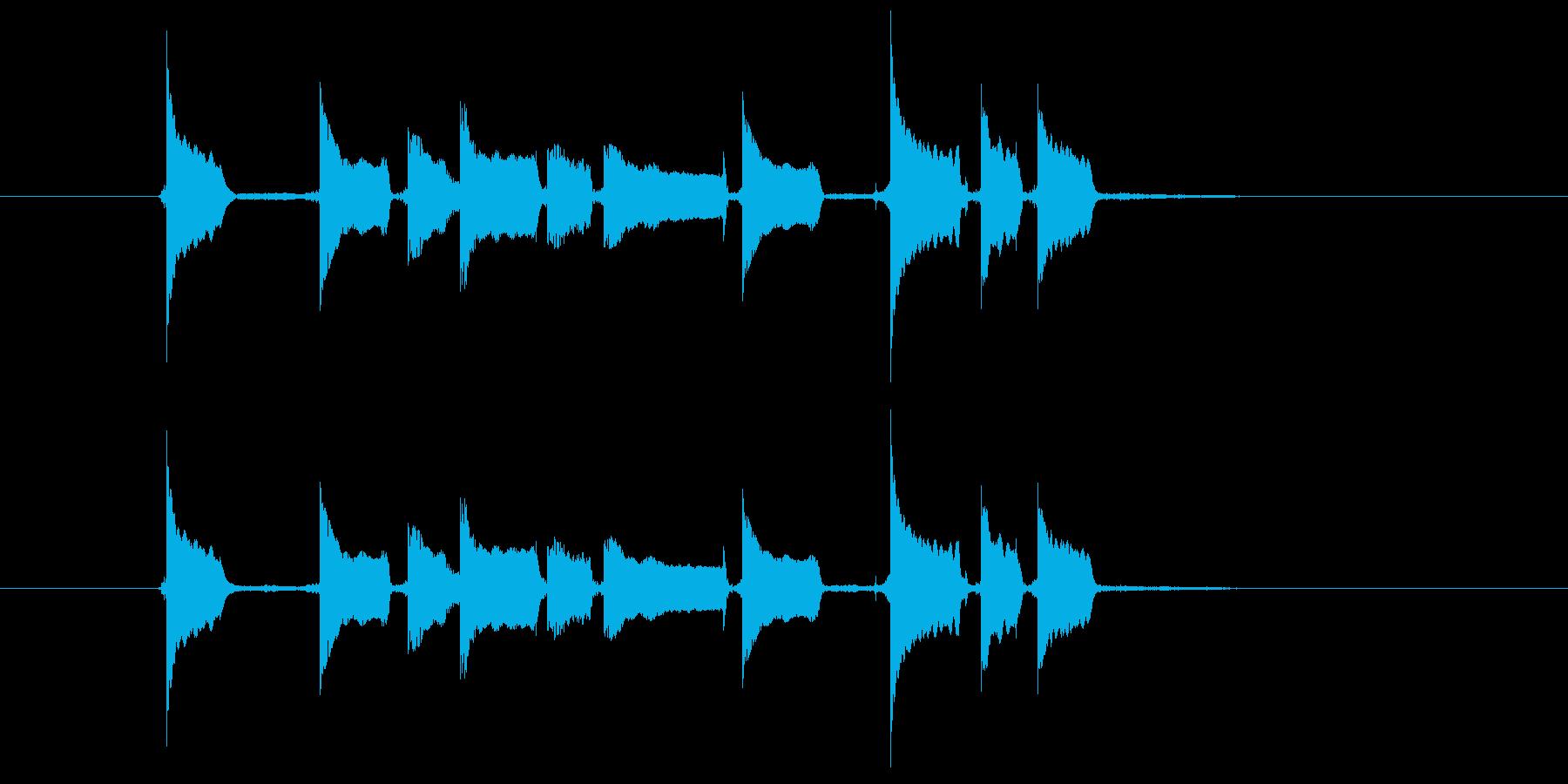 エレキギターのひょうきんフレーズの再生済みの波形