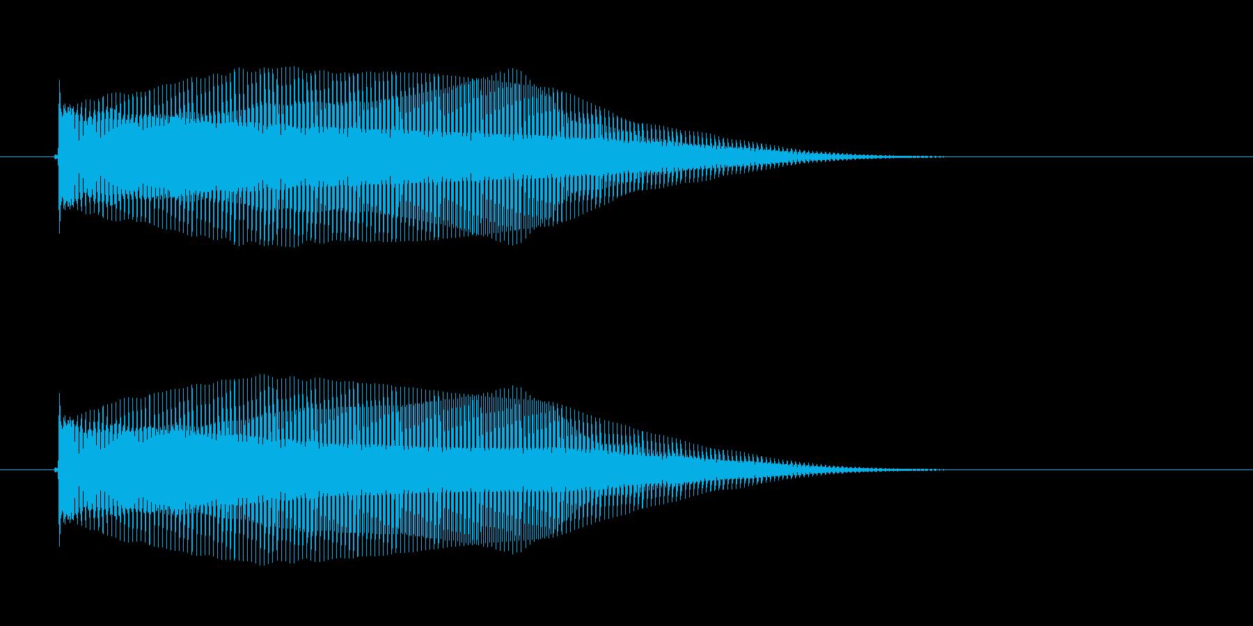 ブワ~ン、ボヨーンという音の再生済みの波形