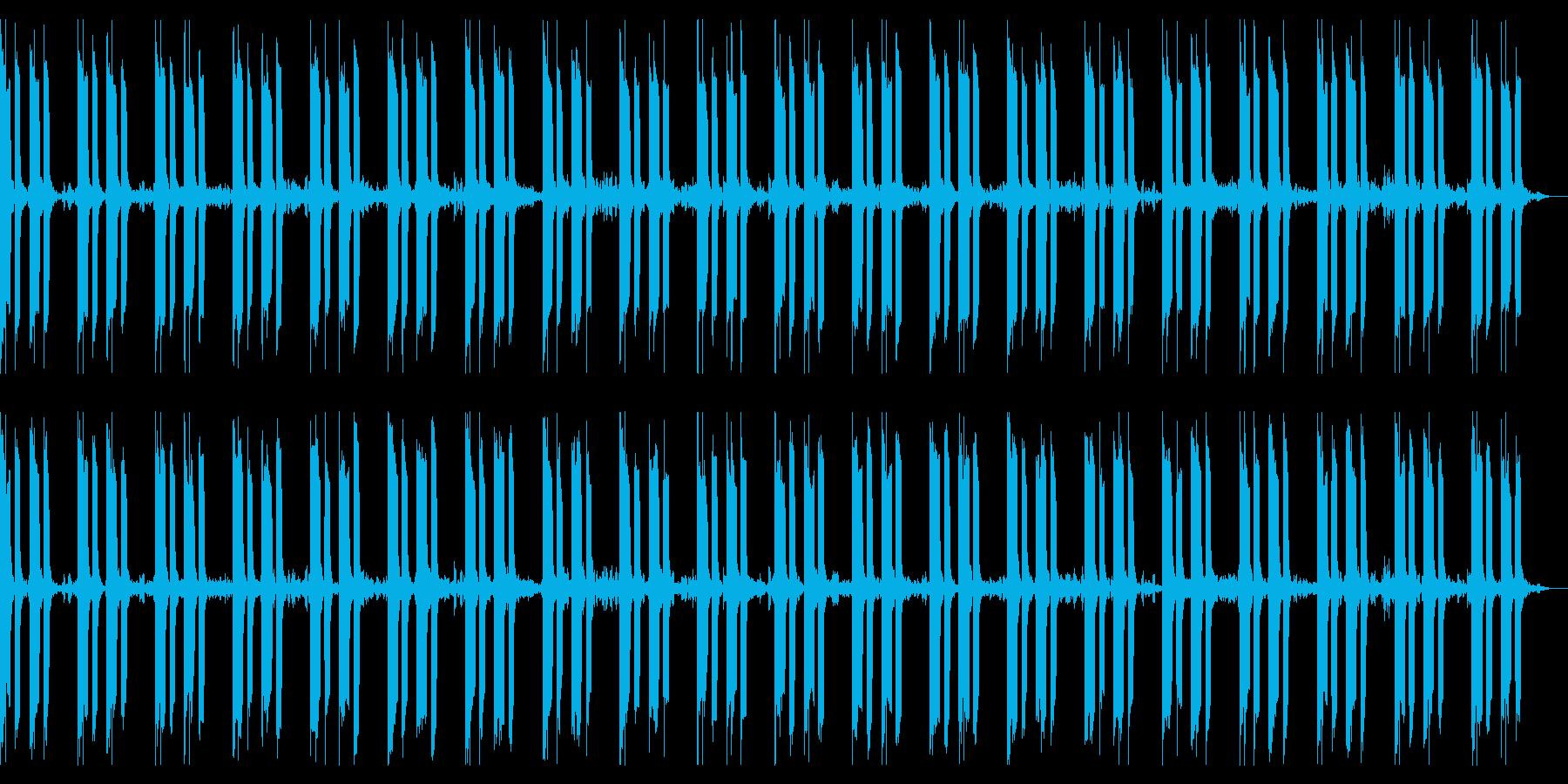 淡々と恐怖感や緊張感、闇を演出するBGMの再生済みの波形