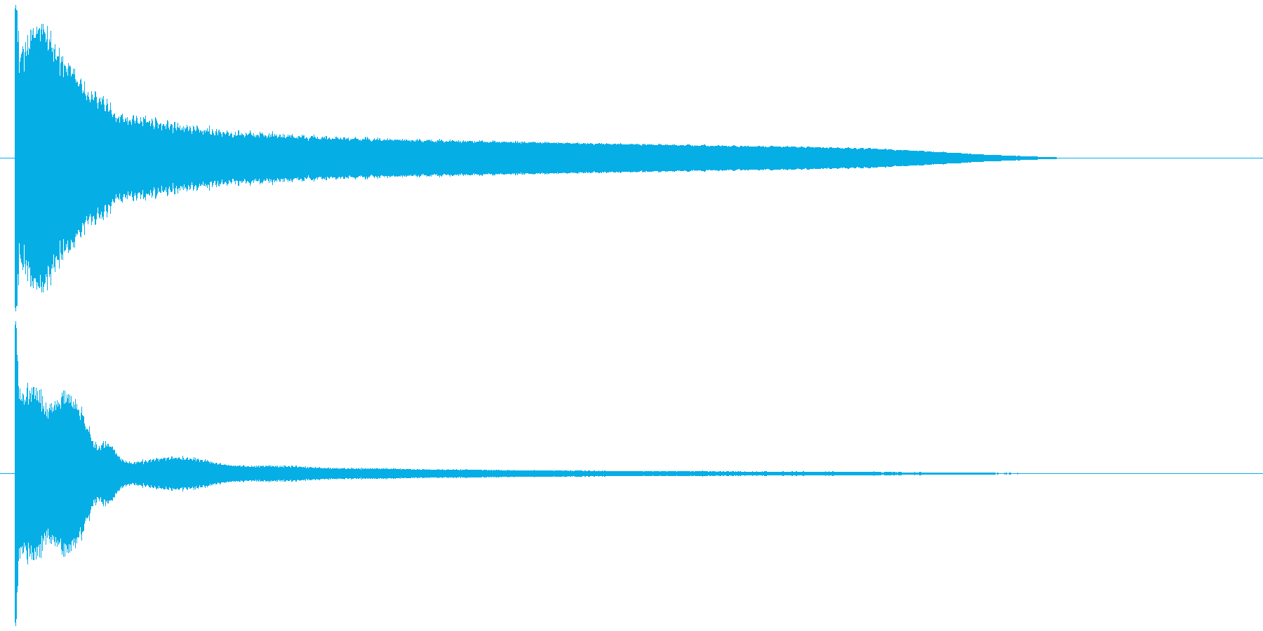 ピキュィーンの再生済みの波形
