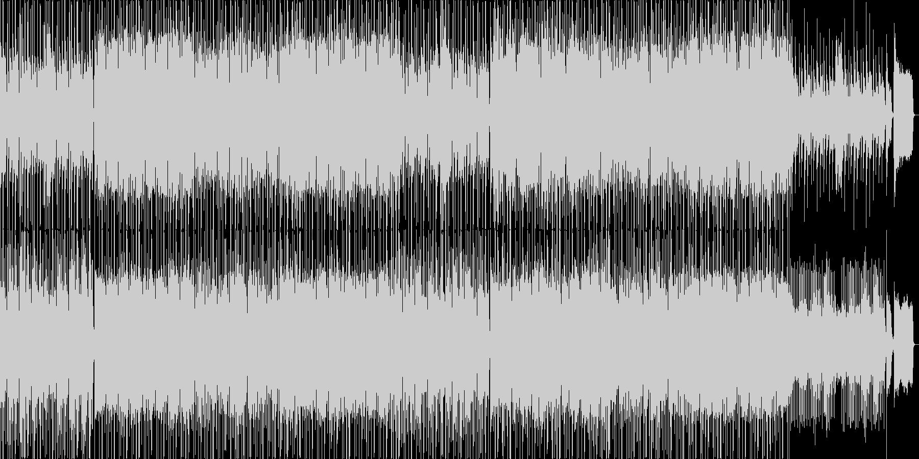 ゆったりした爽やかなハネ系リズムの曲の未再生の波形