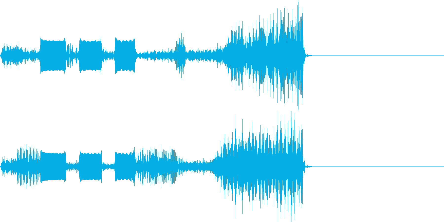 【SE 効果音】スクラッチ2の再生済みの波形