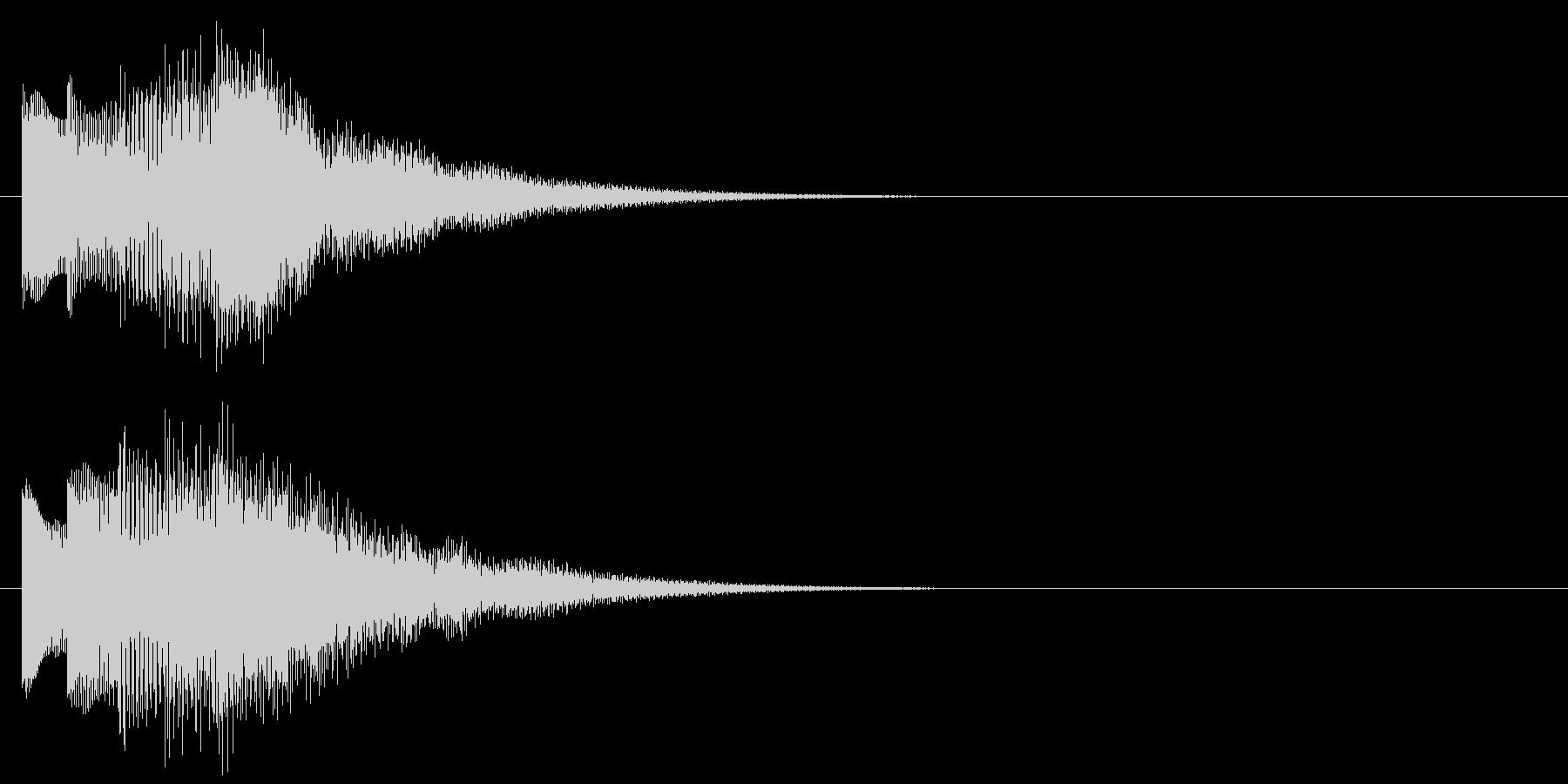 アラーム音05 ベル(sus4)の未再生の波形