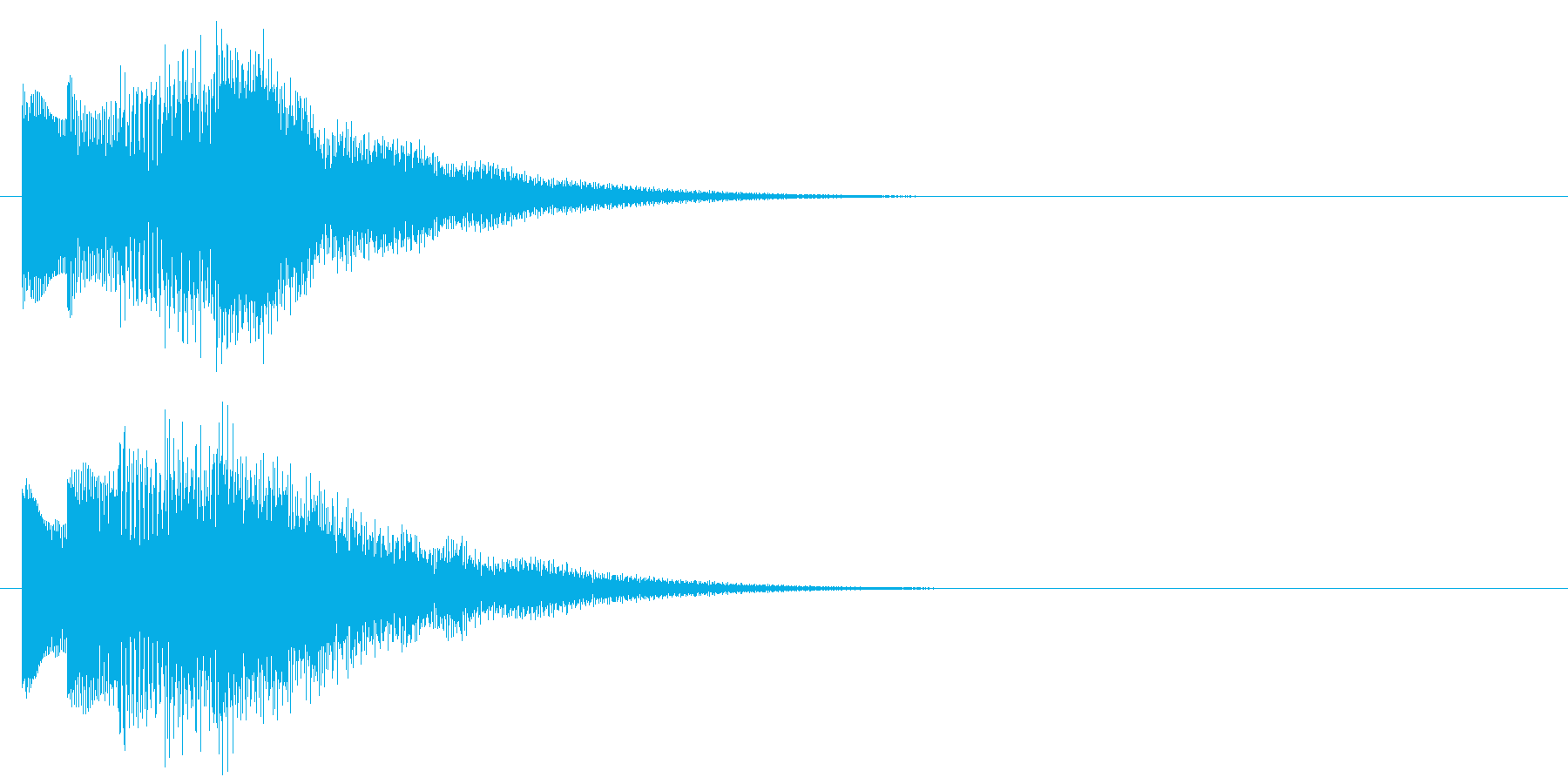アラーム音05 ベル(sus4)の再生済みの波形