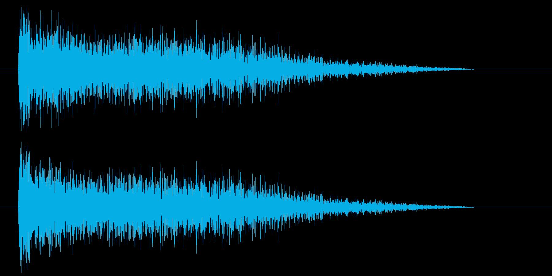 爆発_砲撃の再生済みの波形