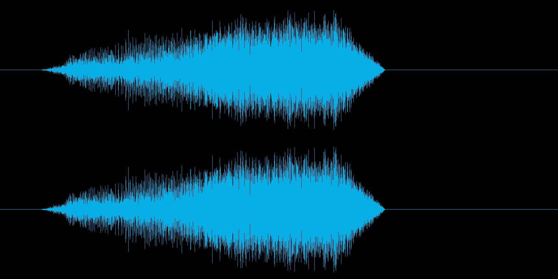 絞めつけるの再生済みの波形