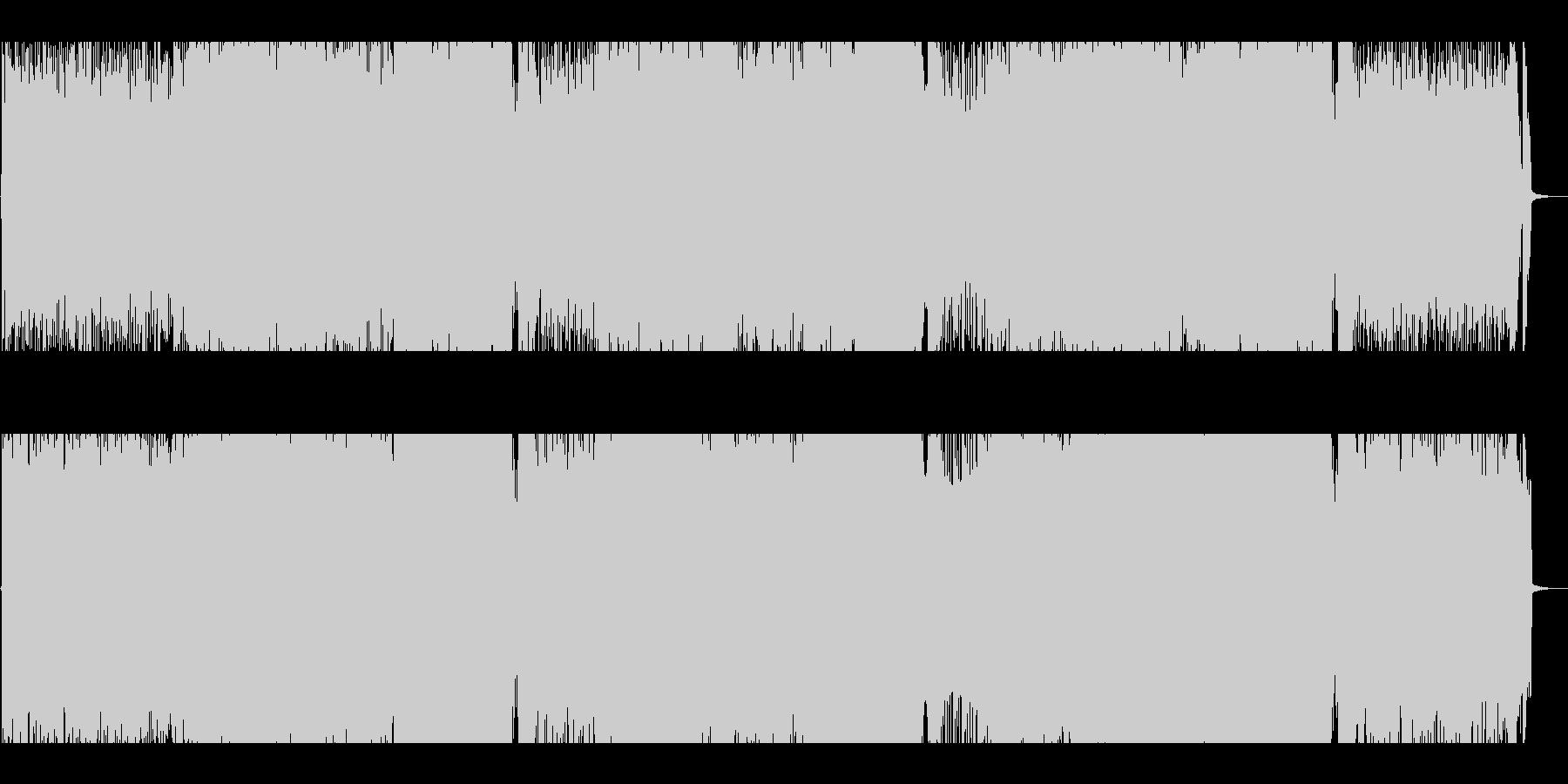 攻撃的なバトル向けパワーロックインストの未再生の波形