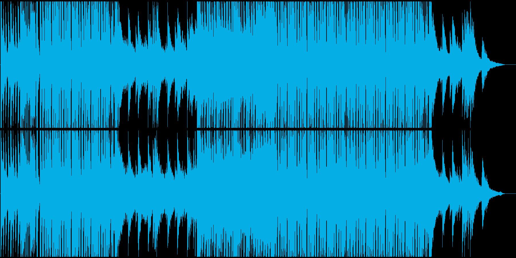 ポップな和風ハウスミュージックの再生済みの波形