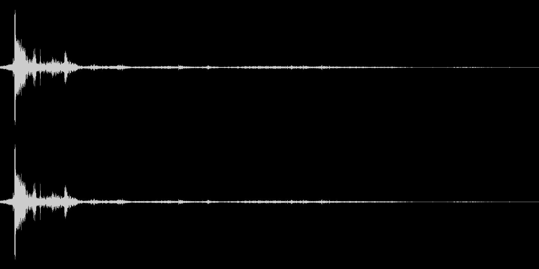 【銃声音003】ライフルの音の未再生の波形