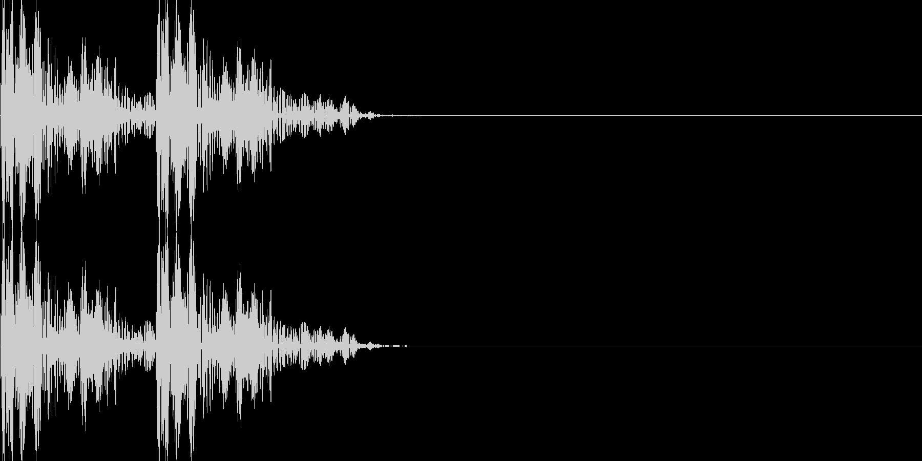古いRPG風移動音の未再生の波形