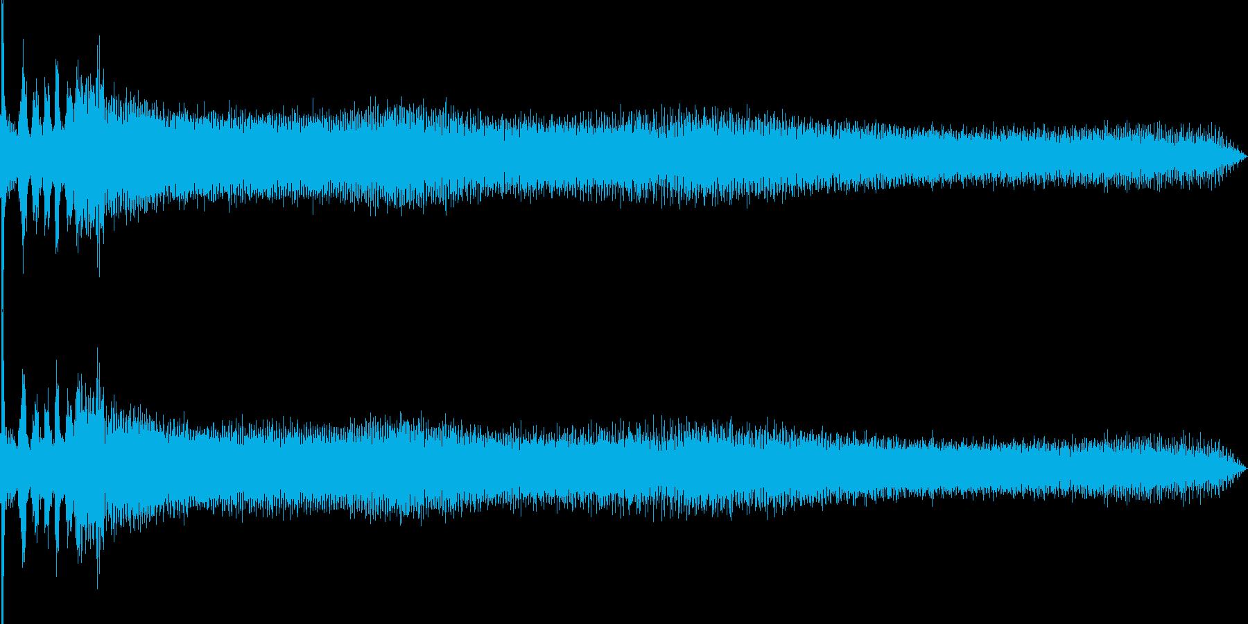 車のエンジンをかける(車外から録音)の再生済みの波形