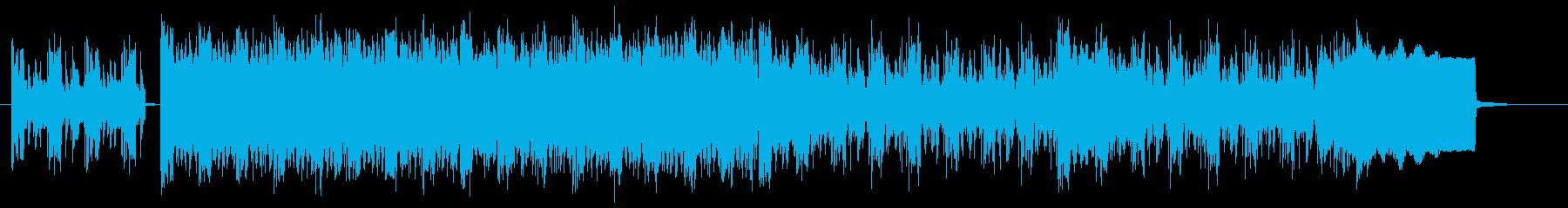 ヘビーで躍動感あるハードロックの再生済みの波形