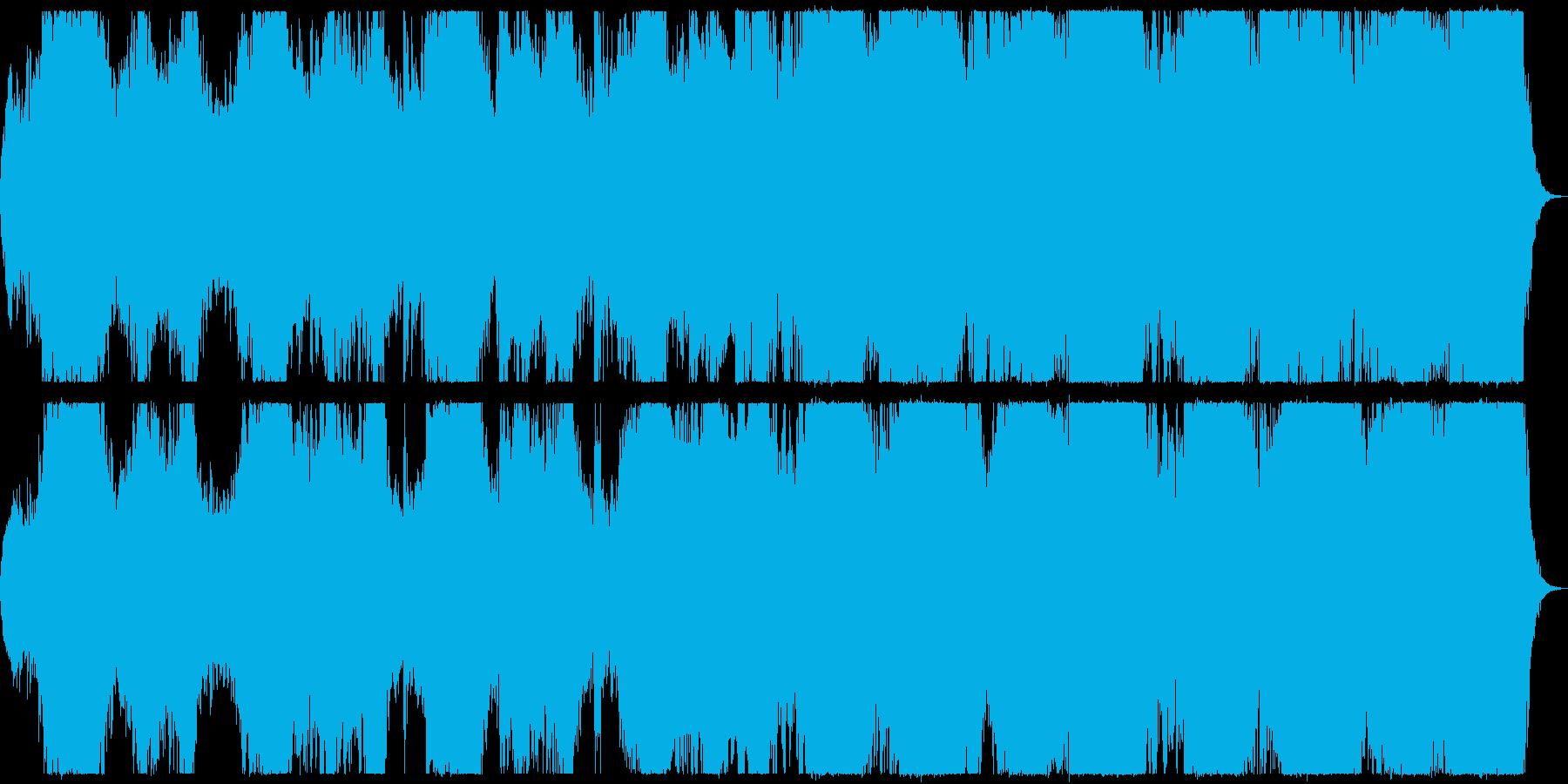 未来的都市を思わせるシンセ音楽の再生済みの波形