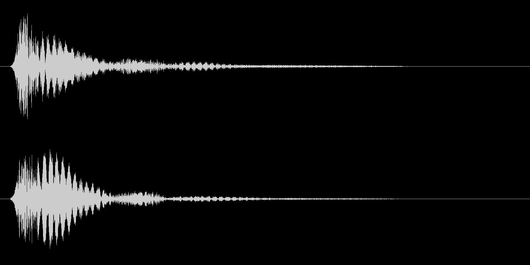 ビョン(プラスチックや弦を弾いた音)の未再生の波形