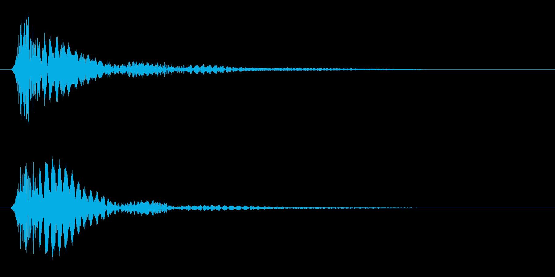 ビョン(プラスチックや弦を弾いた音)の再生済みの波形