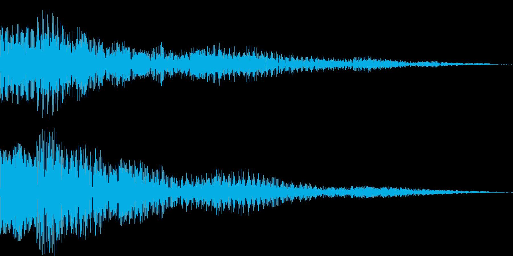 ぽぽーん シネマティック サウンドロゴの再生済みの波形
