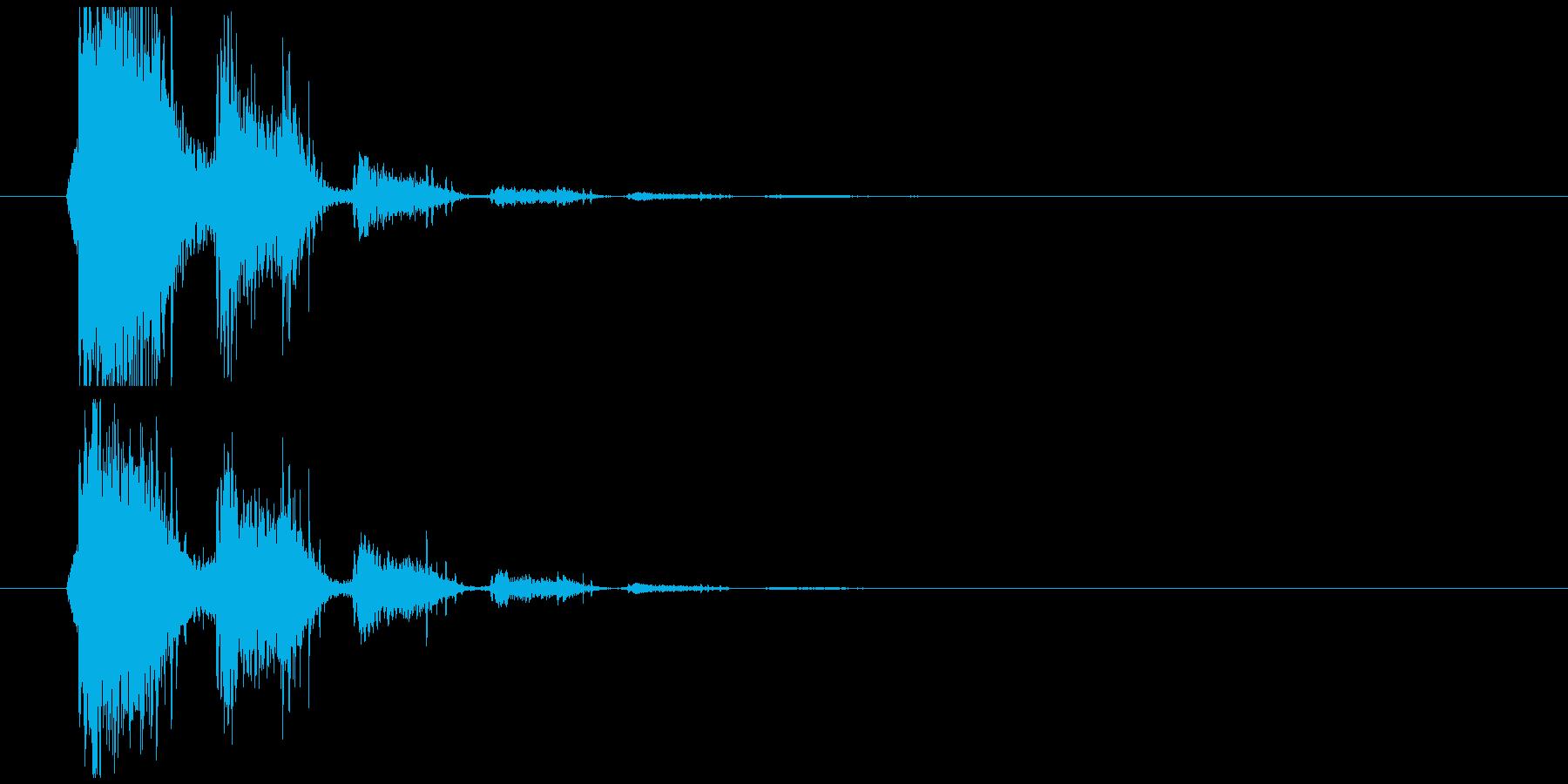 ブーメラン投げるの再生済みの波形
