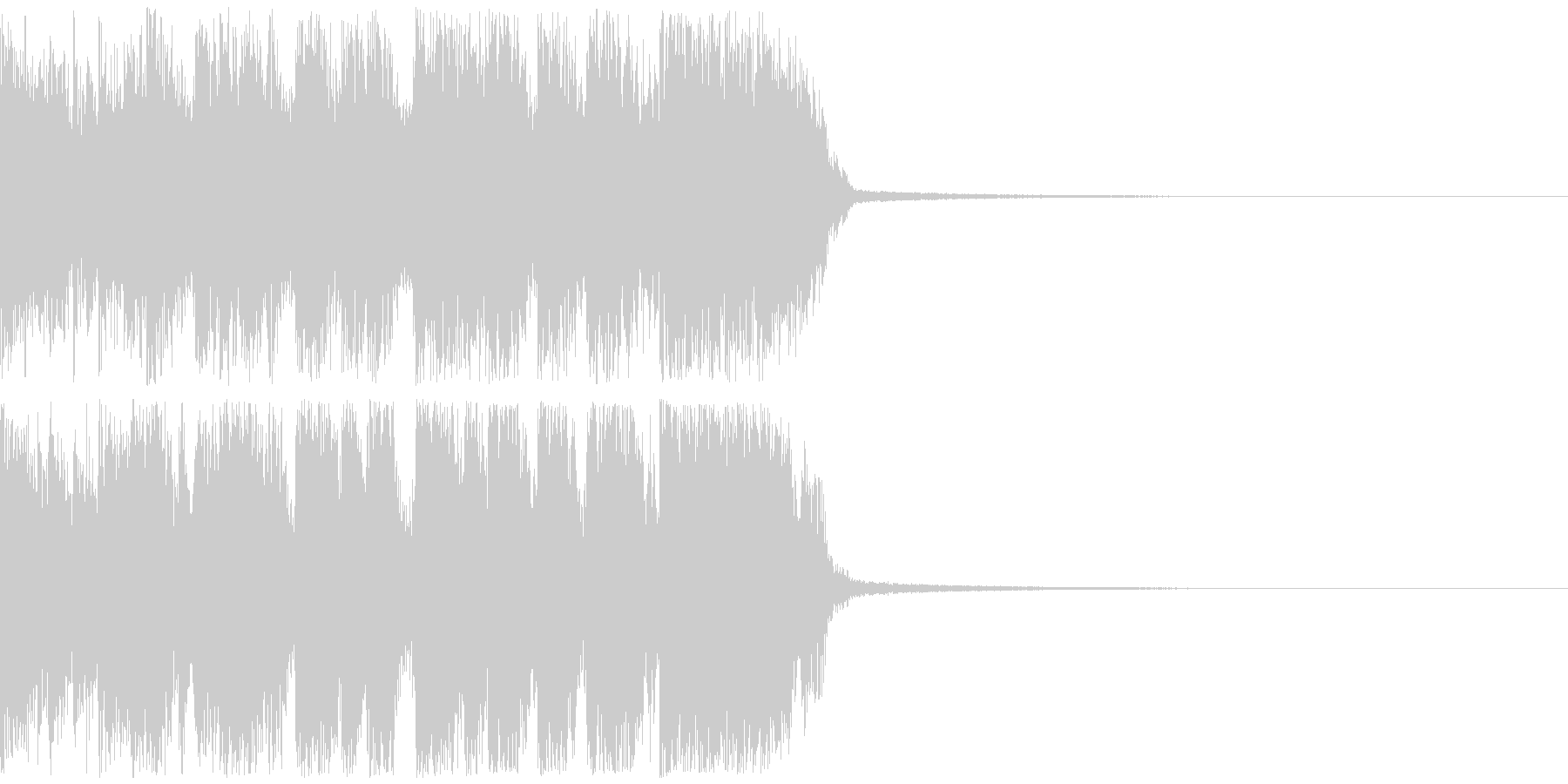 ロックギター&ブラスのジングル メジャーの未再生の波形