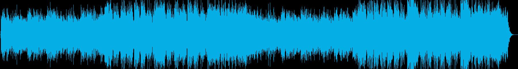 幻想的な和のキーボード演奏の再生済みの波形