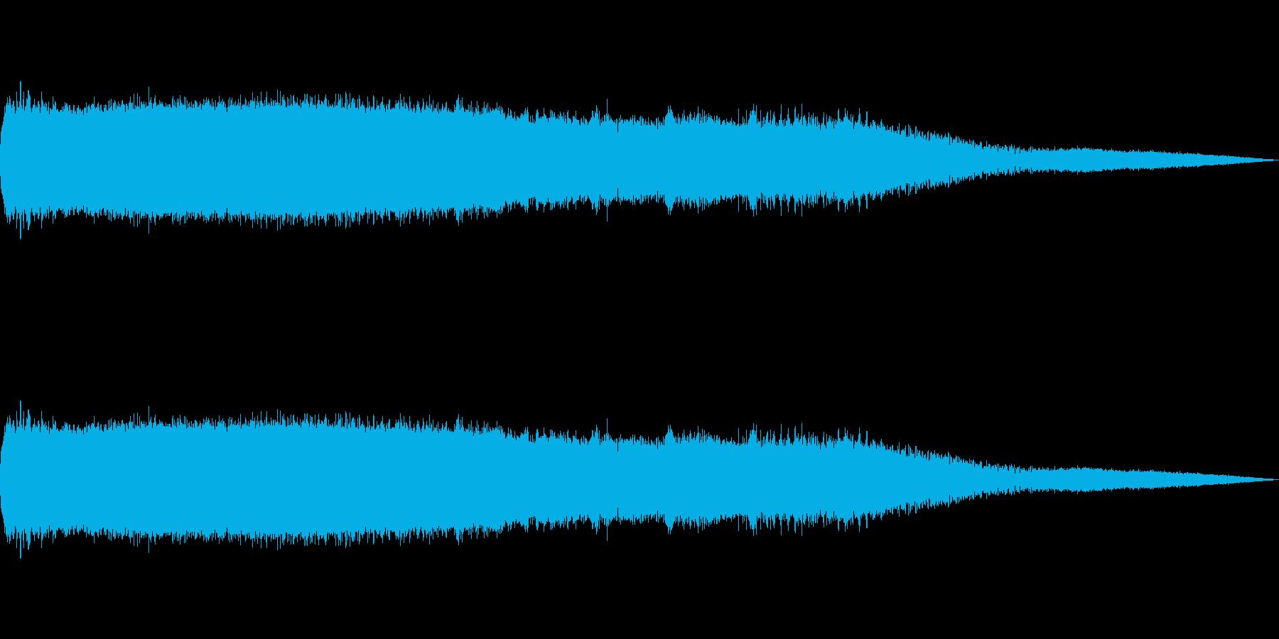 ミンミンゼミの再生済みの波形