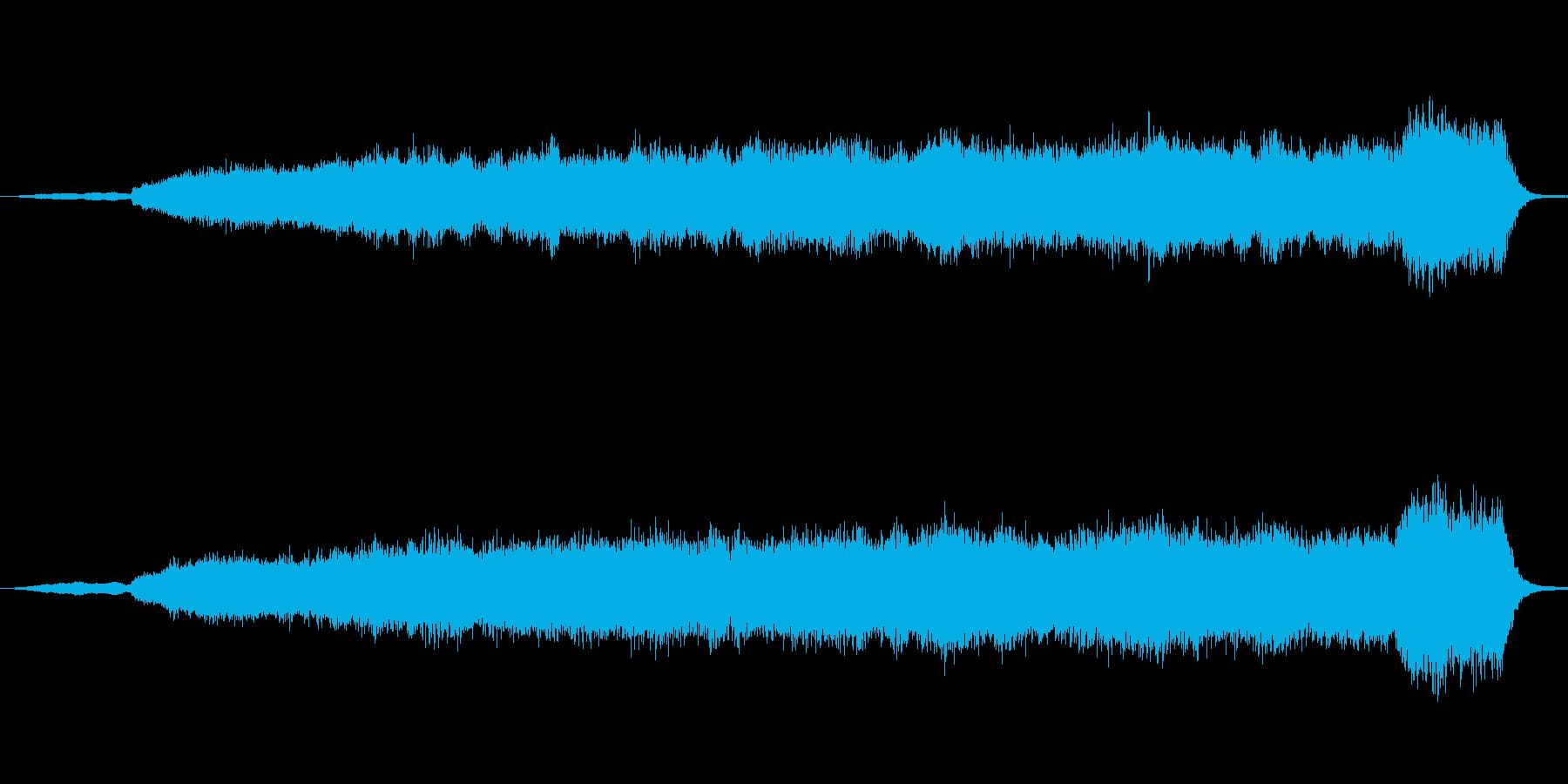 バッハのオルガン曲を幻想的な効果音を入…の再生済みの波形