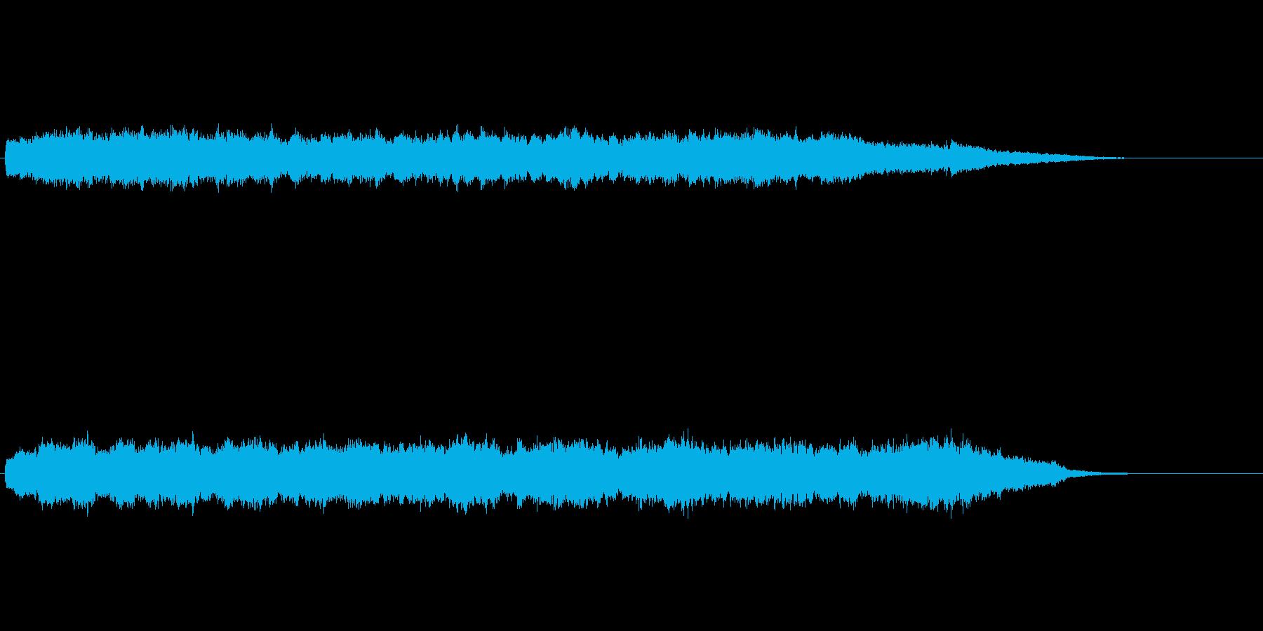 きらきらした音の二十秒サウンドロゴの再生済みの波形