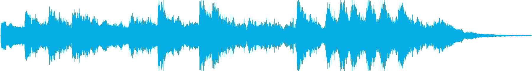 SpychoなFXとロンリーなピアノの再生済みの波形