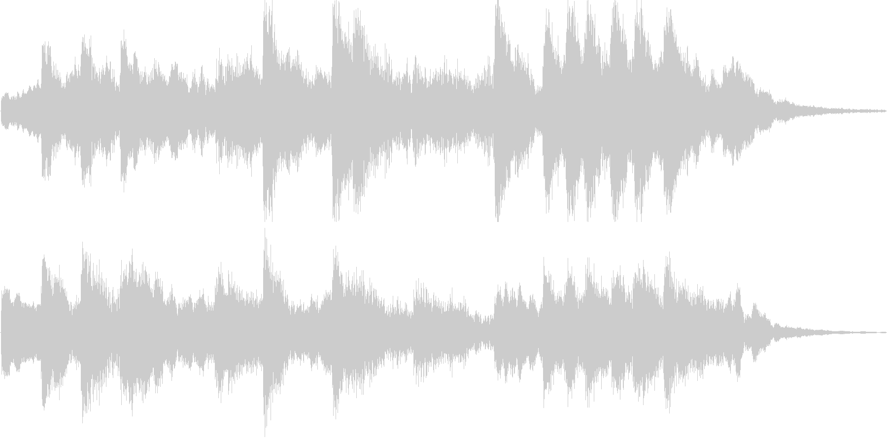 SpychoなFXとロンリーなピアノの未再生の波形